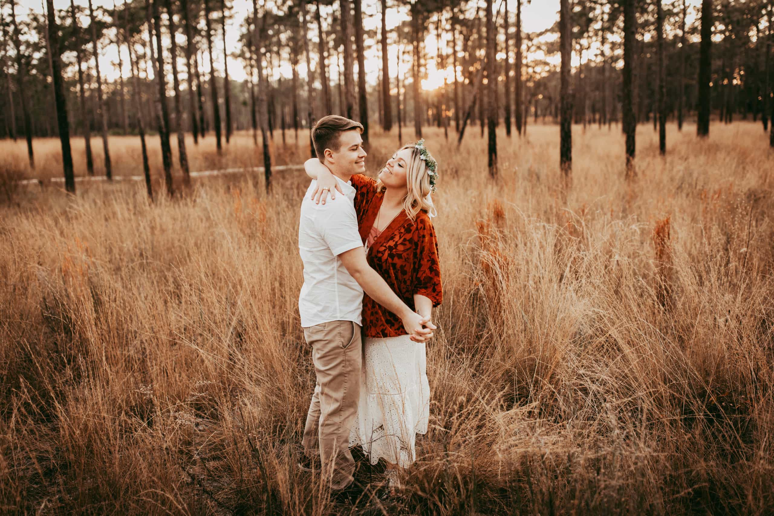 Orlando Couples Photography, couple dancing together in tall grass field