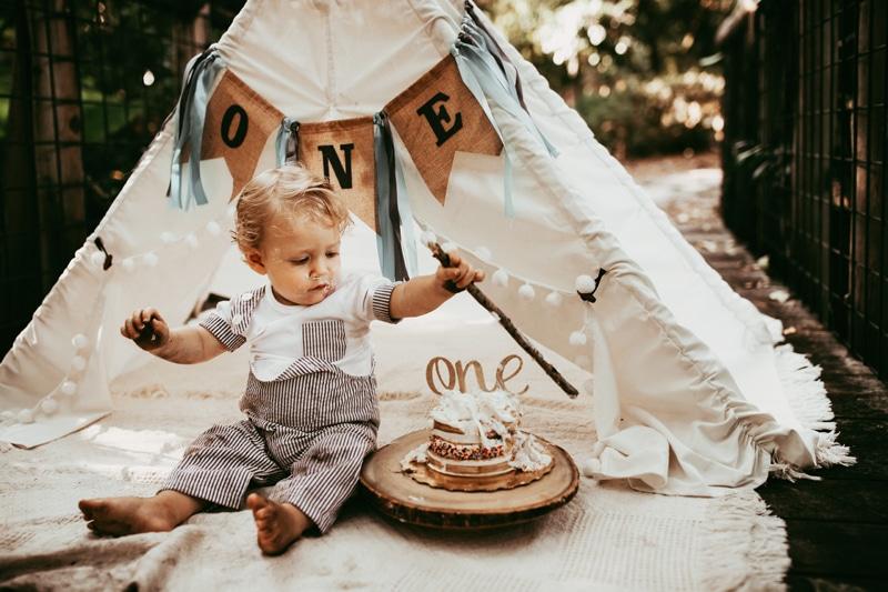 Orlando Cake Smash Photographer, little boy eating cake