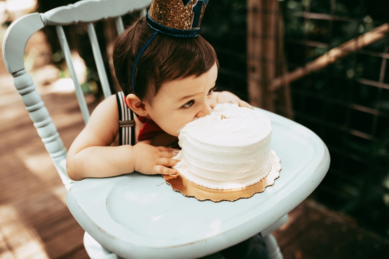 Orlando Cake Smash Photographer, little boy with his face in cake